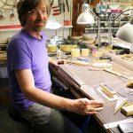 Frank working on a Deimel Firestar neck