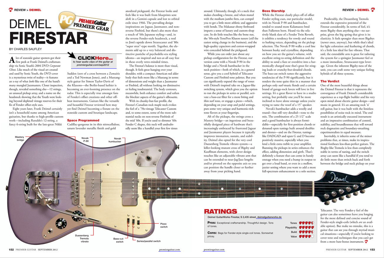 PremierGuitar Review Deimel Firestar