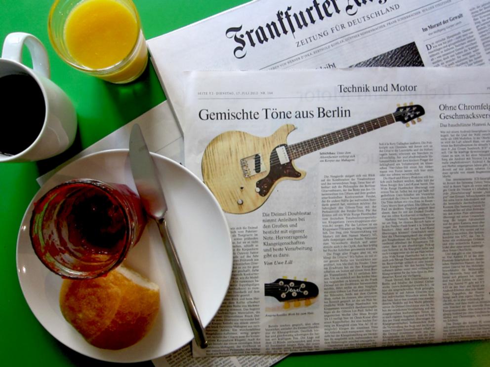FAZ article Deimel Guitarworks