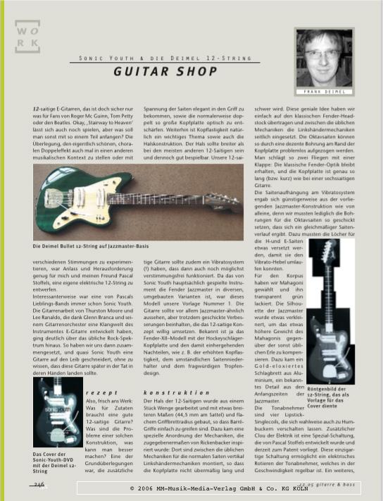 Lee Ranaldo 12 String Gitarre&Bass