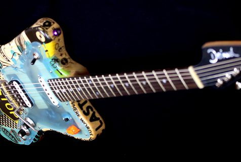 painted guitar Deimel Firestar Artist Edition »STOP THE WAR«