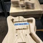 Deimel Guitarworks - bodies waiting to get sanded by us