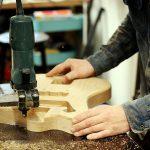 Deimel Guitarworks - cutting a Deimel Firestar body