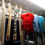 Deimel Guitarworks - bodies and necks are drying for next sanding step