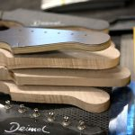 Deimel Guitarworks - neck production with plywood template on top