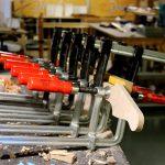 Deimel Guitarworks - gluing a fretboard onto the neck