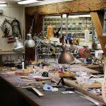 Deimel Guitarworks - workshop section for cleaner working steps
