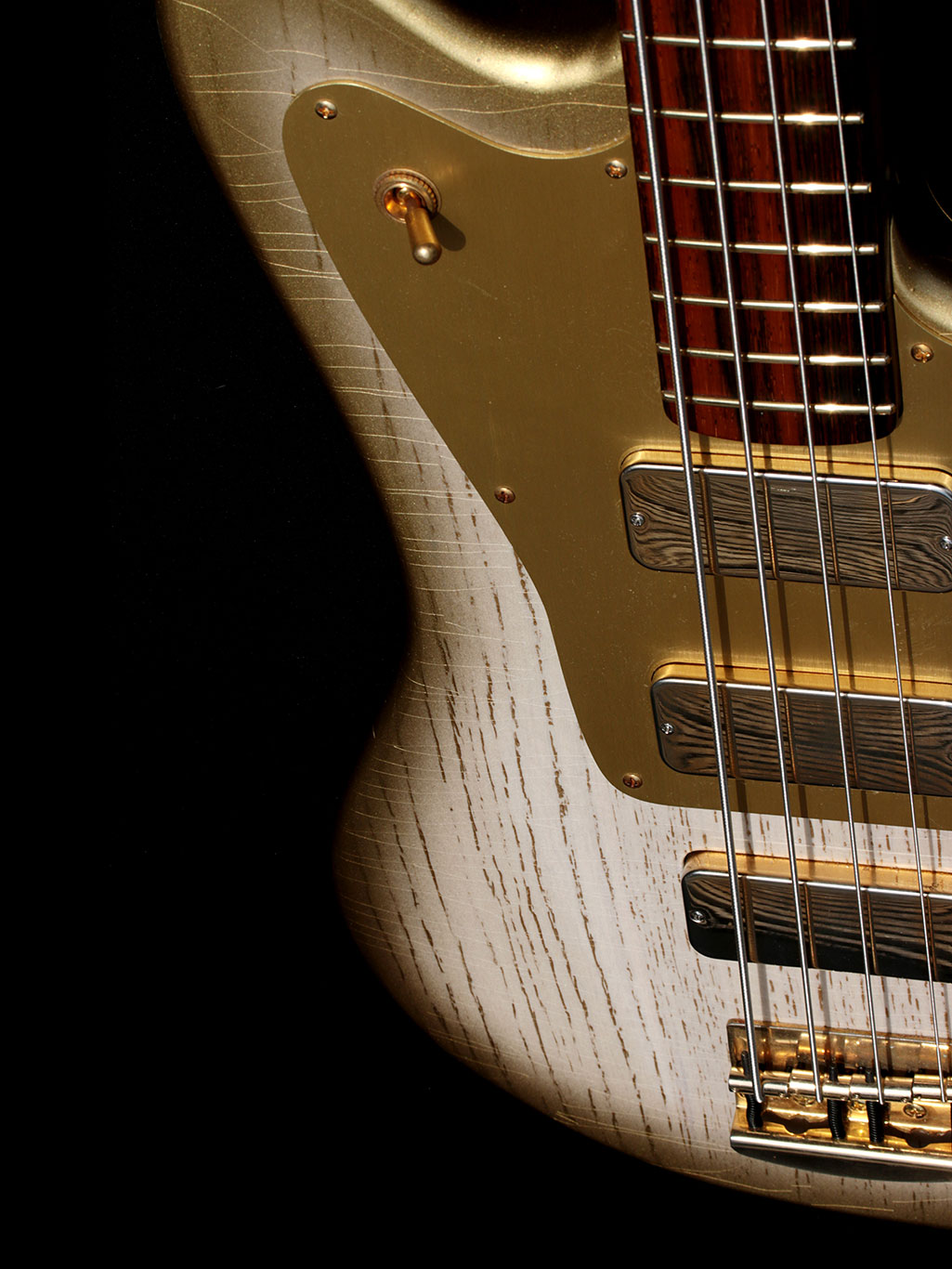 Deimel Firestar Bass »White Desert Sunburst«