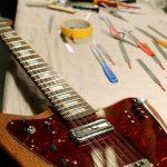 Deimel Firestar 12-String on the bench