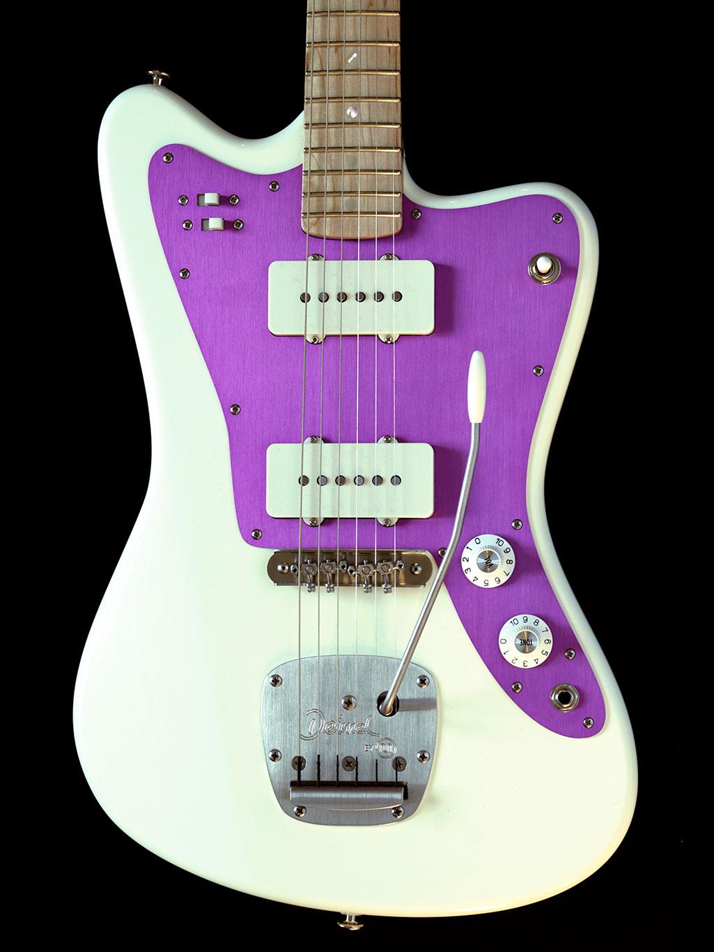 Deimel Firestar »Vintage White« w/ Lollar pickups – Deimel Guitarworks