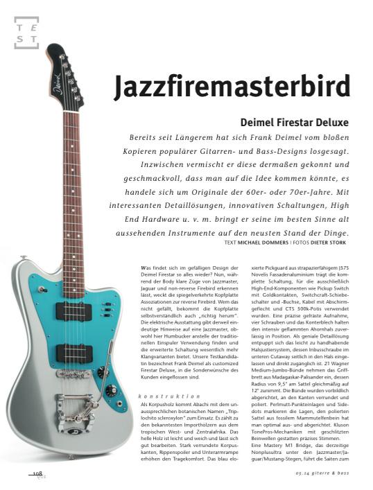 Gitarre&Bass Firestar Artikel