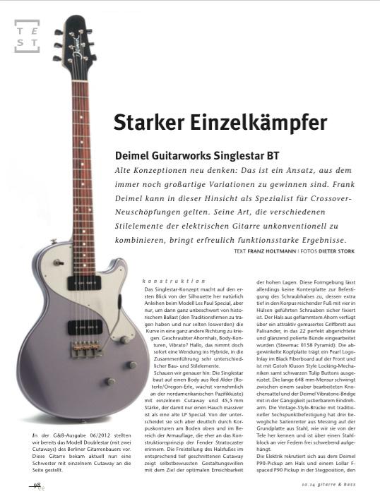 Gitarre&Bass Deimel Singlestar