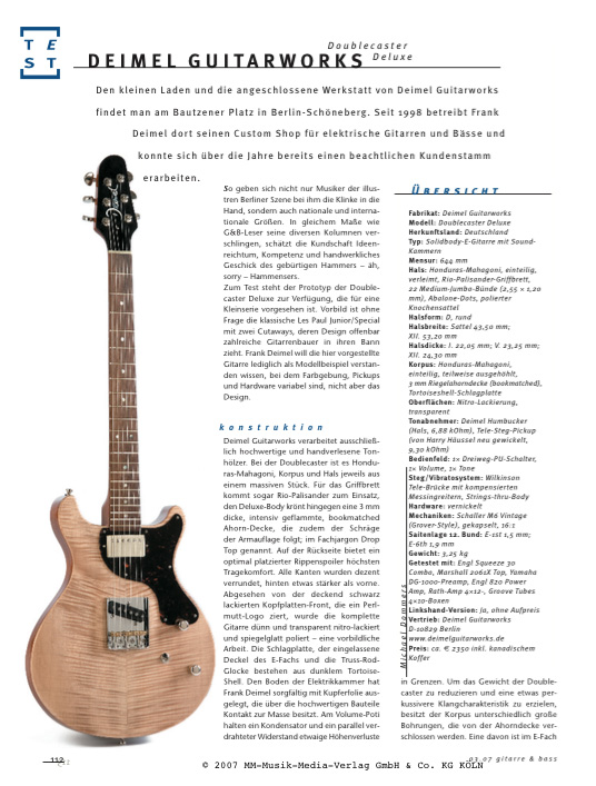 Gitarre Bass Article Deimel Doublestar