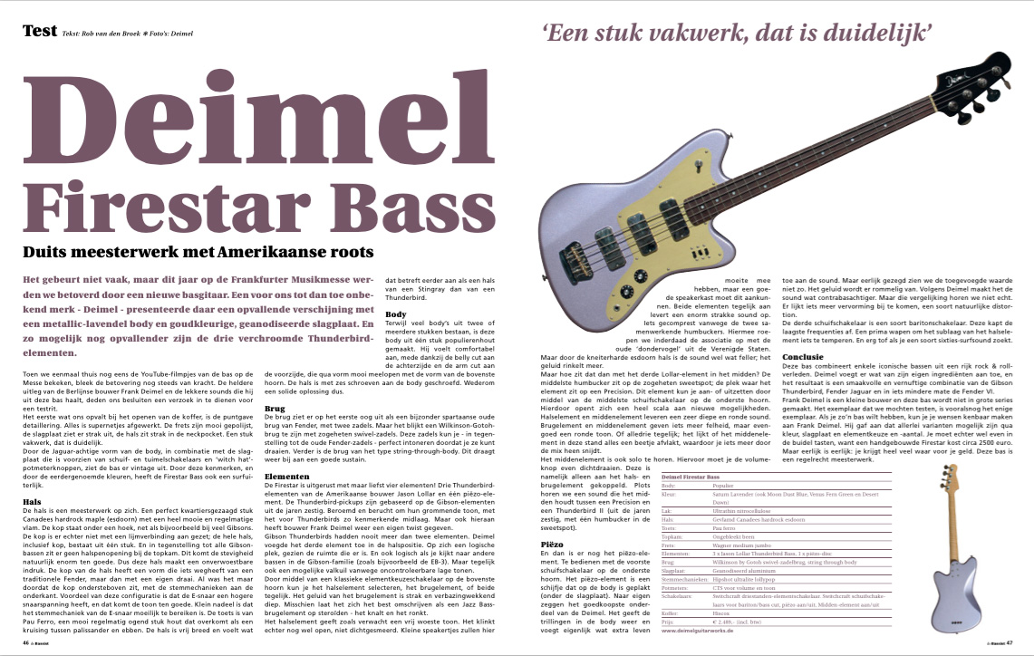 DeBassist Deimel Firestar Bass review