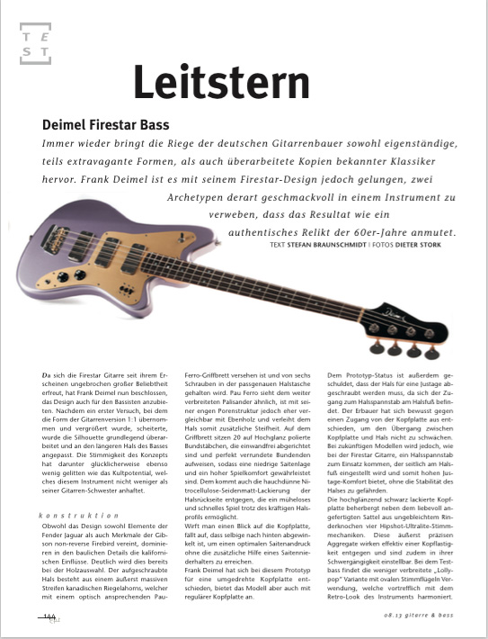 Deimel Firestar Bass review Gitarre&Bass