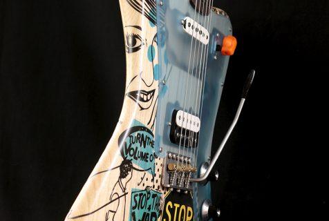 painted guitar Deimel Firestar Artist Edition »STOP THE WAR«