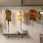Deimel Guitarworks - inside spray booth just sprayed transparent coats