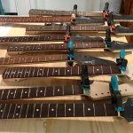 Deimel Guitarworks - nuts are glued onto neck