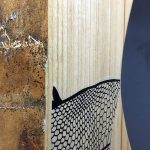 Deimel Guitarworks - Kora is doing tests on wood examples for the artist edition