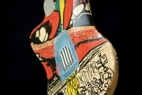 painted guitarDeimel Firestar Artist Edition, art by Kora Jünger