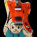 painted guitar Deimel Firestar Artist Edition »Resistance«
