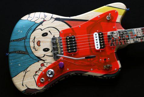 painted guitar Deimel Firestar Artist Edition »Resistance«