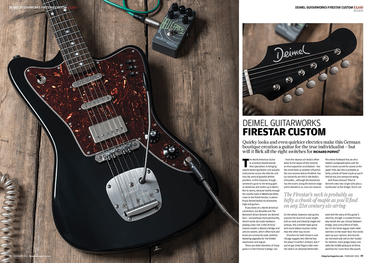 The Guitar Magazine Deimel Firestar review press