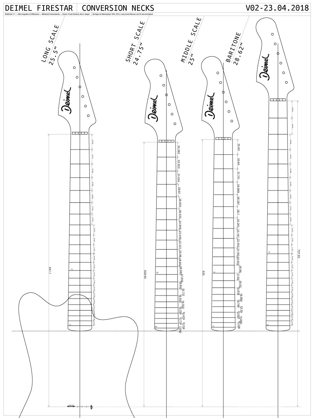 Deimel Firestar Conversion Necks