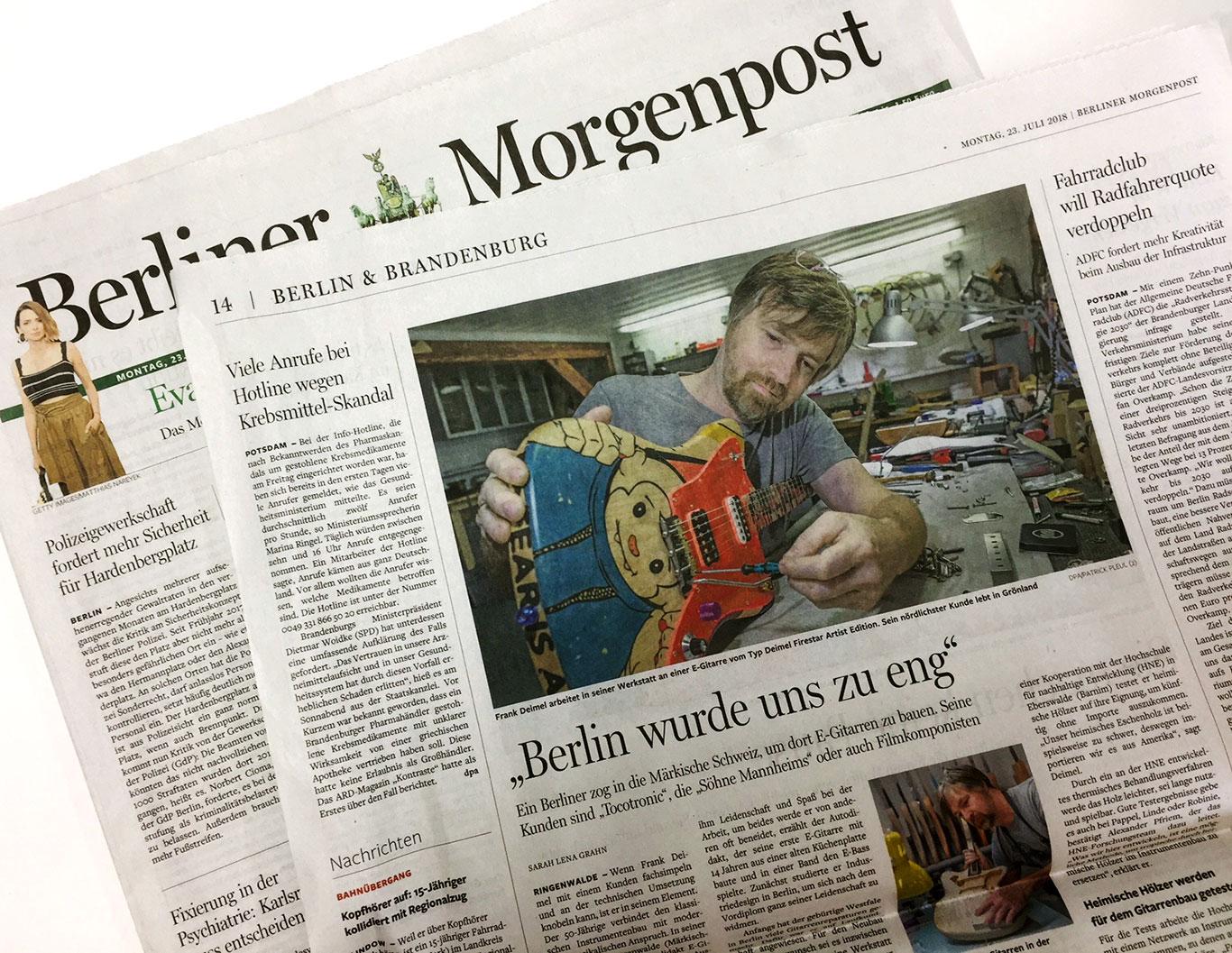 Deimel Guitarworks Berliner Morgenpost
