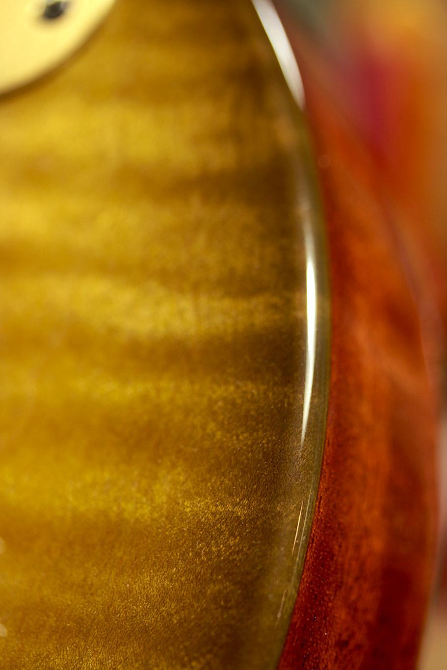 Deimel Doublestar RawTone »Lemon amber with faded burst on maple«