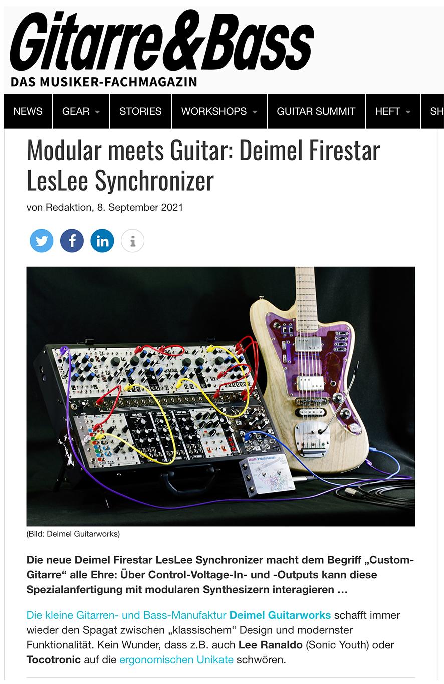 Gitarre&Bass Newsletter Deimel Firestar